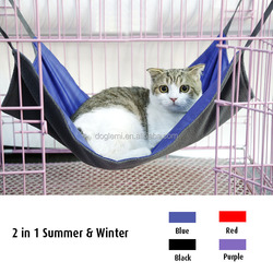 2015 Reversible Cat Hanging Bed Winter Summer Cat Hammock Swing Bed Mini Puppy Heated Cat Bed