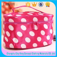 Wholesale Mass stripe beautiful Pouch bag cotton cosmetic bag