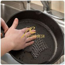 2015 New Product Stainless Steel Chainmail Scrubber