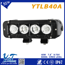 Amber switch convertion 10-30v Auto led spot light bar 40w led driving bar light bar IP67