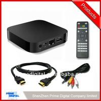2014 Cheapest hotsell android 2.3 1080p internet tv box/hd media player