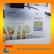 full color printing transparent plastic vip card