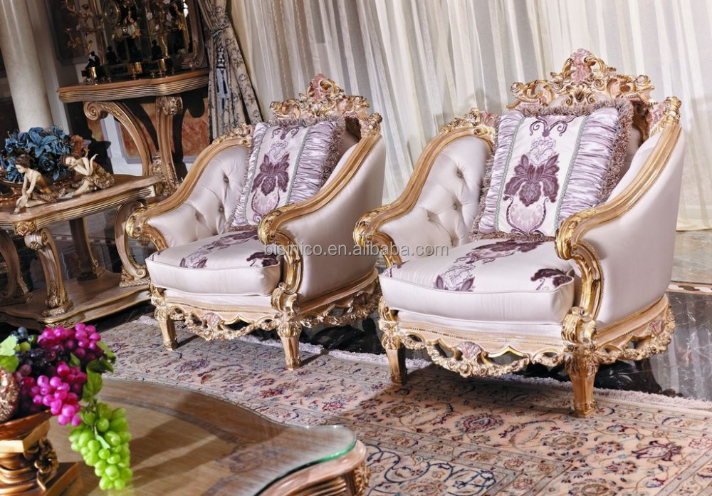 French new baroque classic living room sofa set royal for Baroque living room furniture