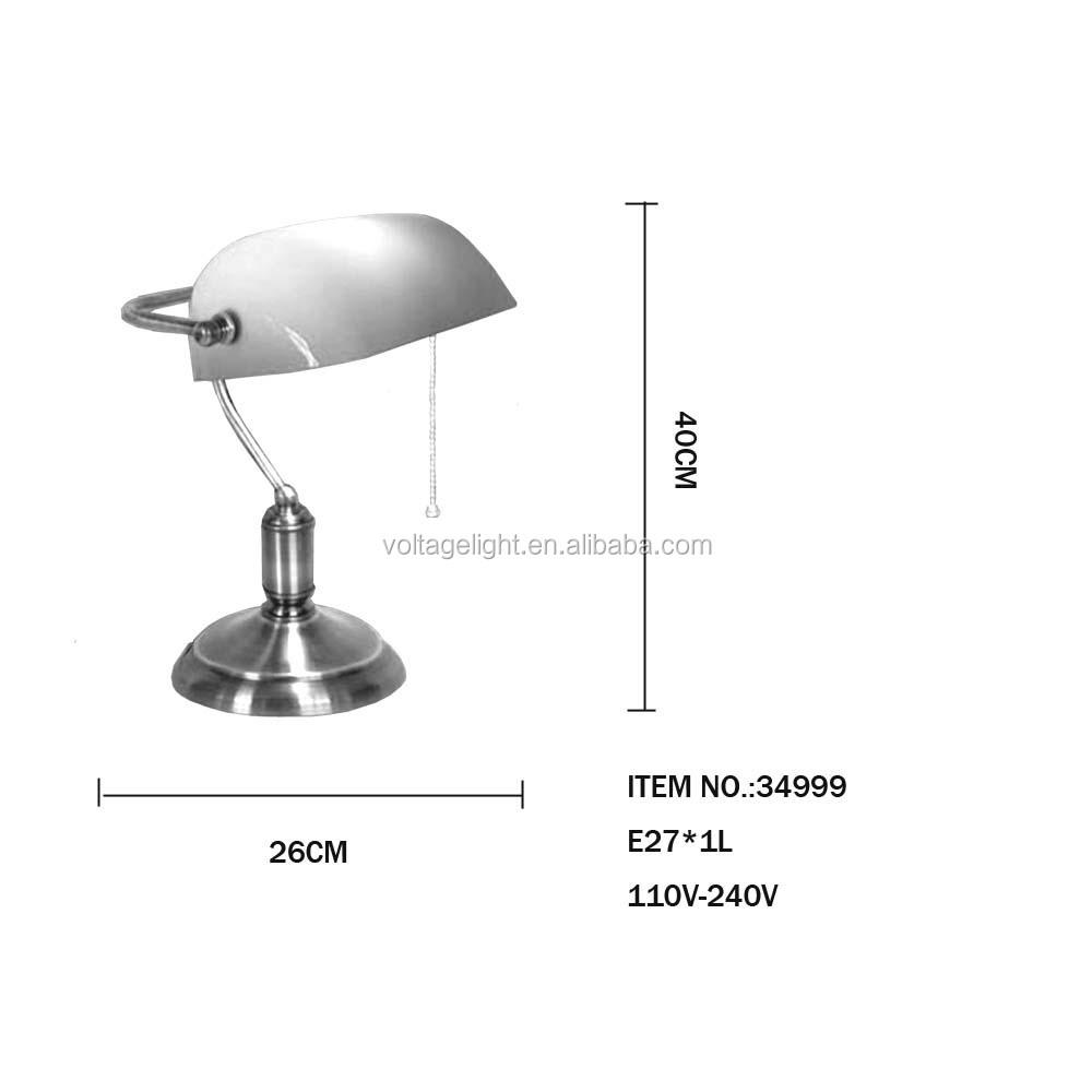 Industrial r tro banker lampe de table laiton m tal base - Lampe de bureau banquier laiton verre vert ...