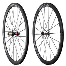 Fashion carbon fiber bicycle wheelset carbon road bicycle wheels,,Novatec hub ,CN spoke bicycle parts 38 clincher,