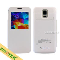 SINOTEK wholesale power case 3800mah window view battery charger case for samsung galaxy s5