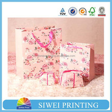 2015 wholesale decorative cardboard fashion brown paper grocery bag handy design with OEM logo