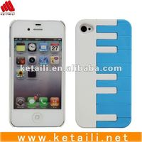 2012 lovely piano design plastic China mobile phone pouch for iphone 4