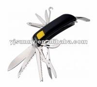#MEC-030A Pocket tools 16-in-1 Multipurpose Pocket Knife Multi-tools Popular Flash Light Multi Tool Knife