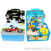 Rectangular Tin food box for kids
