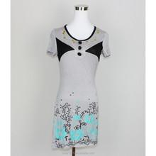 Hot sales top Fashion screen printing at bottom Women LQ8DR03021 casual dress