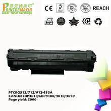 Compatible for Canon lbp3050 Toner Cartridge Cheap Cartridges for CANON LBP3018/LBP3100/3010/3050 (PTCRG312/712/ 912 -435A)