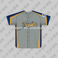 Custom made sublimation baseball jersey design