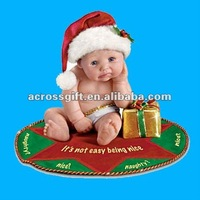 Lifelike cute baby resin doll figure