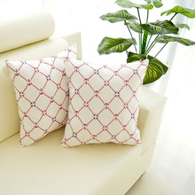 Digital printing modern design grid polyester throw pillow, anchor pillow