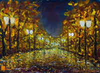 city and rural impressionistic paintings