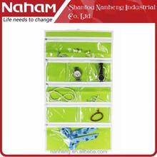NAHAM Cosmetic Bag 9 Pockets Jewelry Hanging Storage Organizer