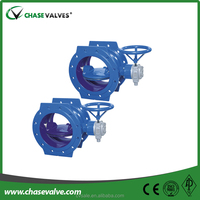 Supplying high performance cast iron double eccentric butterfly valves with worm gear operated