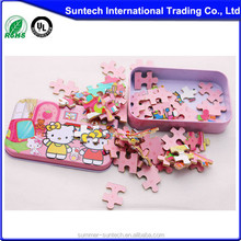 Mini puzzle game in tin box for kids