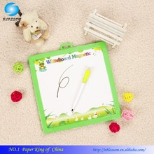 2015 custom cheap price baby education artpaper eraser magnetic writing board, Plastic frame cork white board with marker
