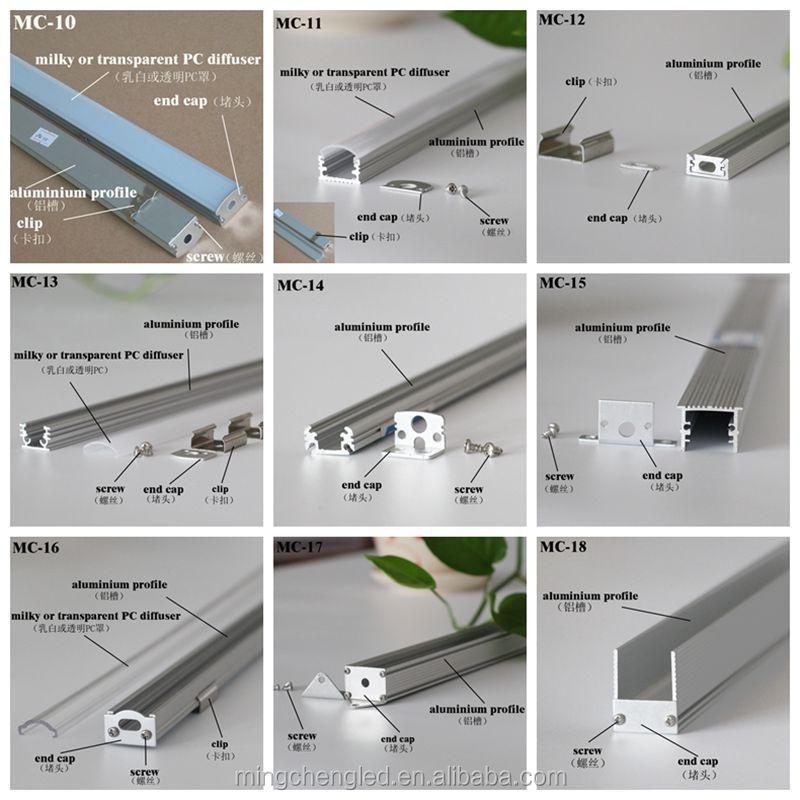 Canal de perfil de alum nio conduziu perfil de alum nio - Tipos de perfiles de aluminio ...
