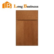 LB-DD1089 Oak stained slap kitchen cabinet door and drawer front
