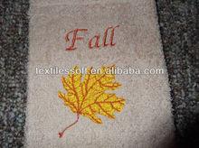 100% cotton FALL MAPLE LEAF Fingertip Towel