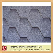 Chinese famous fiberglas blue mosaic asphalt roof shingles