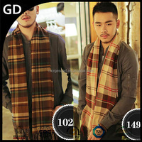 GDMM0102 Striped and plaid fashion explosion chevron infinity yemen scarf for men