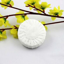 Round Pleat Wrapped Hotel Size Soap With white label