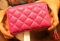 women gender soft surface card holder goat leather wallet/purse free shipping