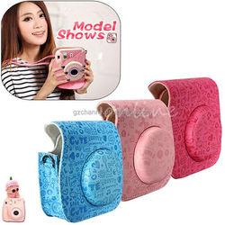 Beautiful design Cute Cartoon High Quality PU Leather Camera Case Shoulder Bag for Fuji Fujifilm Intax Mini 8 8S