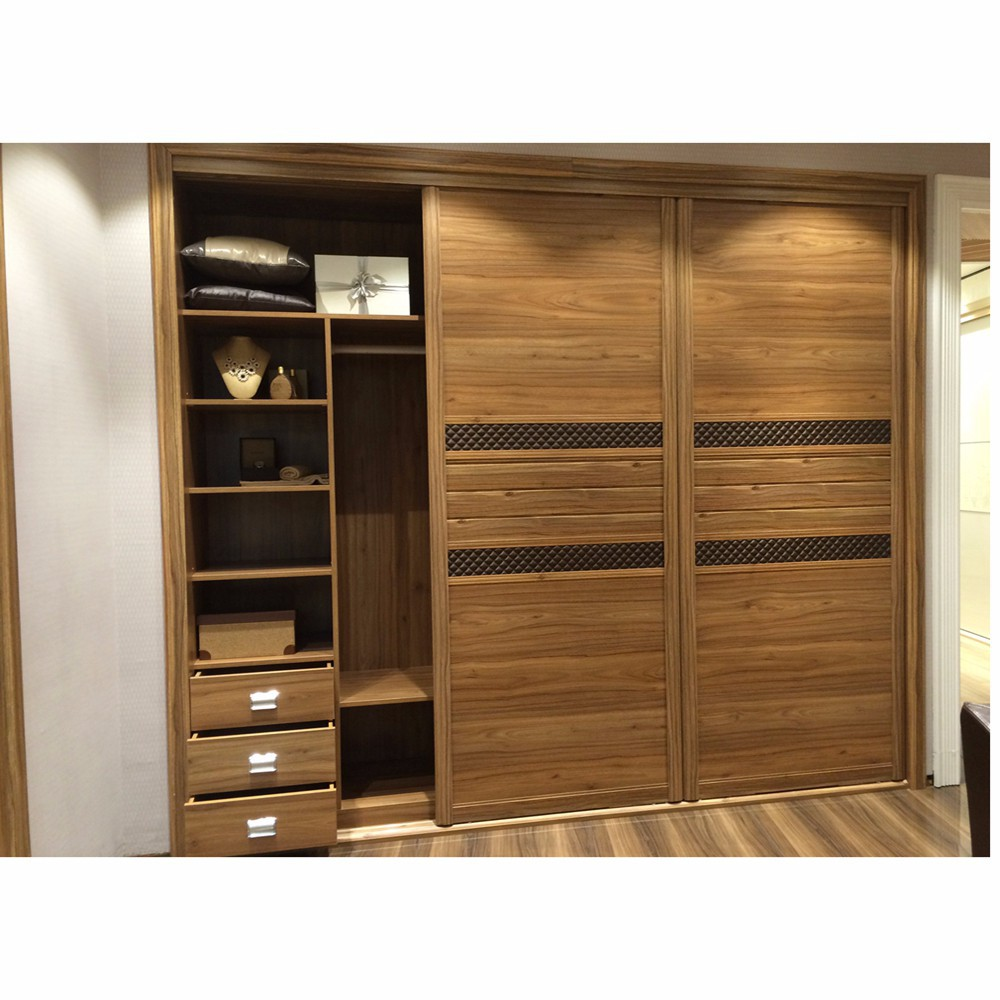 3 sliding door wooden bedroom almirah design buy wooden for Pics of wooden almirah