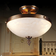new arrival copper led ceiling light with alabaster shade