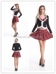"Adult drop ship carnival junhou<span class=""_product""></span> walson plus size 3XL naughty school girl costume checkout"