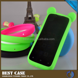 Fashionable sweet candy colors silicone bumper case for iphone 6s