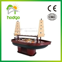 China factory OEM ventilated luxury commercial salad bar wood refrigerator buffet display for hotel