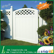 different size pvc lattice top privacy fence