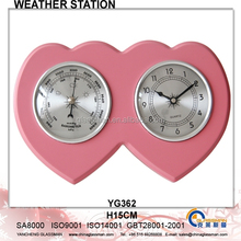 Wooden Weather Station Barometer Decor YG362