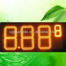 "10"" 8.889 Waterproof 7segments LED gas price digital sign"