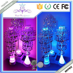 Elegant party decoration twisted LED Crystal Candle holder Base for Your DIY Party