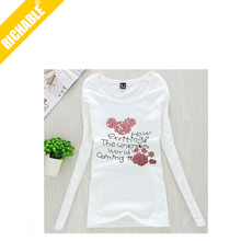 Elegant 2014 new LONG SLEEVE t shirt women tees
