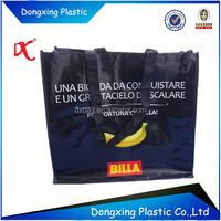reusable cheap plastic shopping bag woven trolley shopping