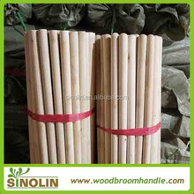 italian thread natural wooden broom pole with very good quality