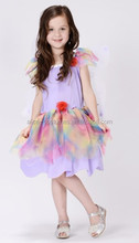 Halloween kids fairy costume with wings Fairy flower tutu fancy dress costumes party cosplay costume fairy tutu dress for girls