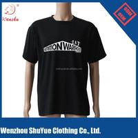 Black round neck t shirt printing ,cheap sport t shirt ,stretch t shirt