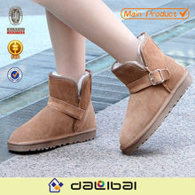 cow seude fashion designer casual half ankle snow woman boot