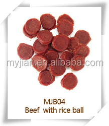 beef with rice ball MJB04 pets snacks dry bulk dog training treats snacks food chew natural manufacturers