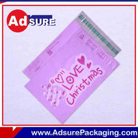 Christmas Design Poly Mailer Plastic Shipping Envelope/custom plastic clothing packaging mail/For Christmas