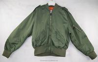 Green Nylon Mens Bomber Jacket for pilot